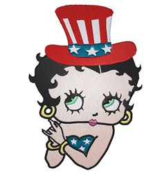 Patriotic Betty Boop embroidery design