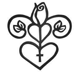 Wedding Heart Cross embroidery design