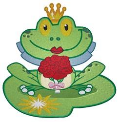 Wedding Frog embroidery design