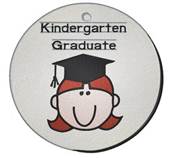 Kindergarten Graduate Girl embroidery design