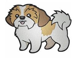 Cute Shih Tzu embroidery design