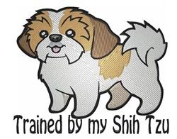 Shih Tzu Trainer embroidery design