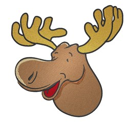 Cartoon Moose Head embroidery design