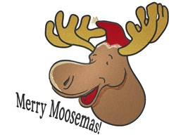 Merry Moosemas embroidery design