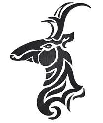 Tribal Deer Head embroidery design