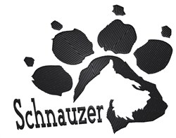 Schnauzer Paw embroidery design