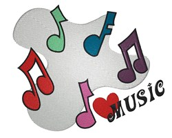 Love Music embroidery design