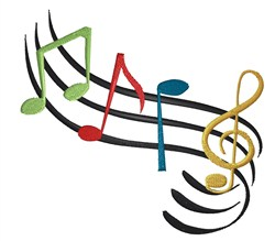 Musical Notes embroidery design