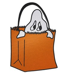 Ghost in Bag embroidery design