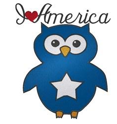 I love America embroidery design