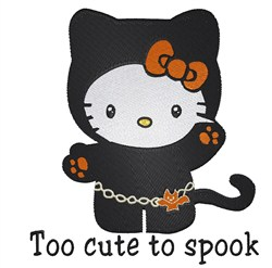 Too Cute to Spook embroidery design