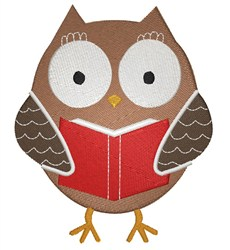 Owl With Book embroidery design