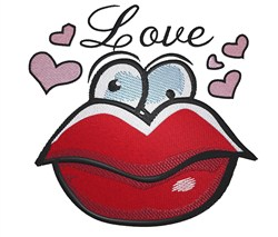 Love Lips embroidery design