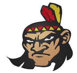 Angry Indian Mascot embroidery design