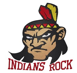 Indians Rock embroidery design