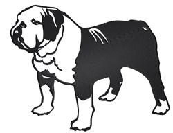 English Bulldog embroidery design