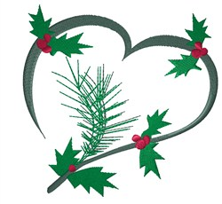 Christmas Heart embroidery design
