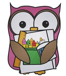 Coloring Owl embroidery design