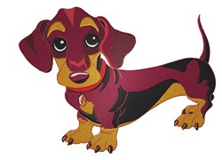 Dachshund Patches embroidery design