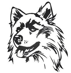 Husky Outline embroidery design