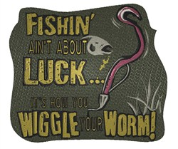 Fishin Luck embroidery design