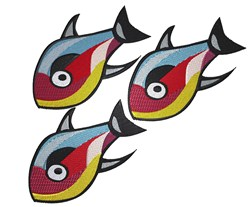Colorful Fishes embroidery design