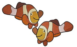 Clown Fishes embroidery design