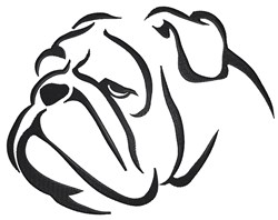 Bulldog Head embroidery design