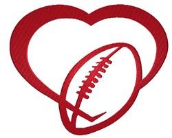 Football Heart embroidery design