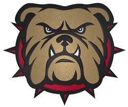 Angry Bulldog embroidery design