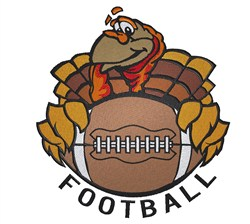 Football Turkey embroidery design