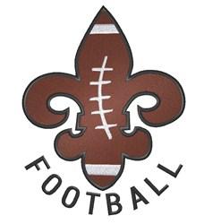 Fleur de Lis Football embroidery design