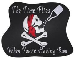 Having Rum embroidery design