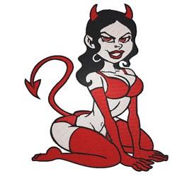 Devil Woman embroidery design