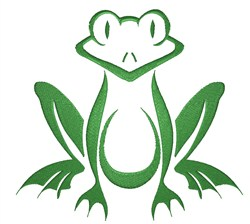 Frog Outline embroidery design