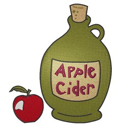 Apple Cider embroidery design