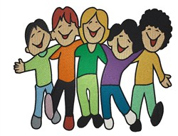 Group of Kids embroidery design