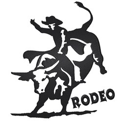 Rodeo Bull embroidery design