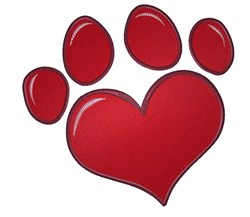 Heart Paw embroidery design
