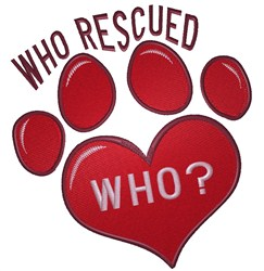 Heart Paw Rescue embroidery design