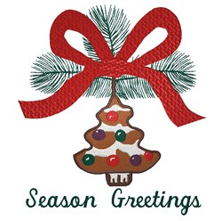Season Greetings Ornament embroidery design
