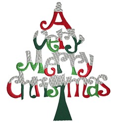 Very Merry Tree embroidery design