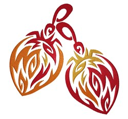 Flaming Christmas Ornaments embroidery design