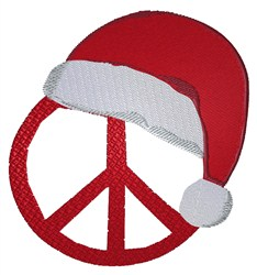 Peace Christmas embroidery design