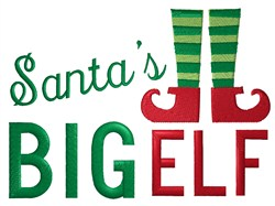 Santas Big Elf embroidery design