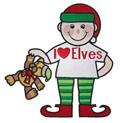 Heart Elves embroidery design