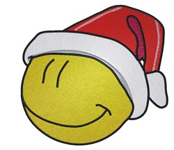 Santa Emoticon embroidery design
