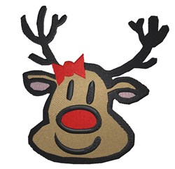 Reindeer Head embroidery design
