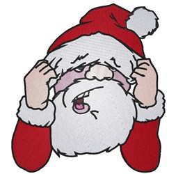 Frustrated Santa embroidery design