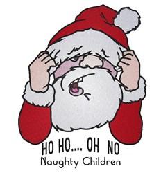 Ho Ho Santa embroidery design